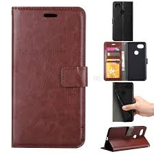 btrcase crazy horse magnetic leather wallet case for google pixel 2 xl brown 1