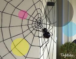 giant spider web DIY Halloween
