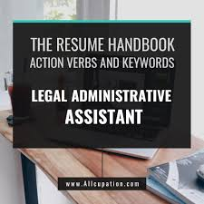 Attention To Detail Legal Administrative Assistant Resume
