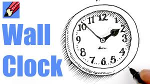 how to draw a wall clock real easy