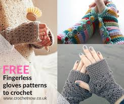 Crochet Gloves Pattern Simple Freefingerlesscrochetglovespatterns