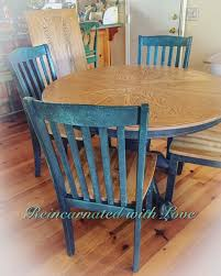 Farmhouse Table Extendable Dining Table Blue Kitchen Etsy
