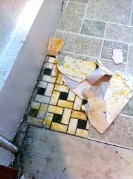 how to remove vinyl floor adhesive from concrete remove floor tile crumbly vinyl tiles removing floor