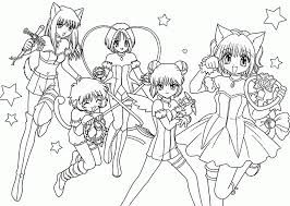 Coloring Pages Manga Coloring Pages Splendie Anime Photo Ideas