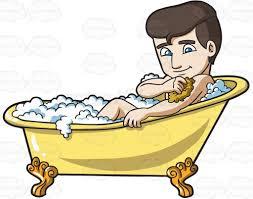 a man scrubbing in a tub
