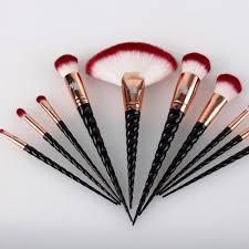unicorn brushes black. original royale unicorn brush set \u2013 black \u0026 rose gold unicorn brushes black y