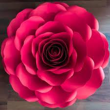 Paper Flower Cricut Template Svg Dxf A4 Xl Rose Paper Flower Template Diy Cricut And