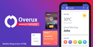 template phone overux mobile multipurpose html app template