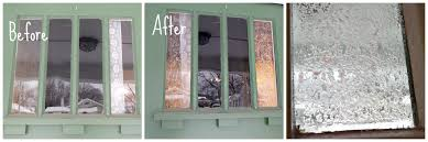 before & after window glazing