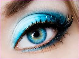 how to apply smokey eye makeup for blue eyes