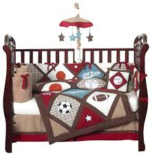 sports themed baby bedding all star sports bedding set sports themed baby  decor