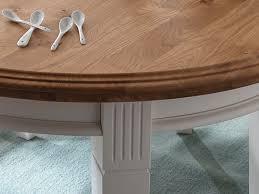Esstisch Küchen Tisch Novara Rund ø 120 Cm Pinie Nordica Weiß Wildeiche Massiv