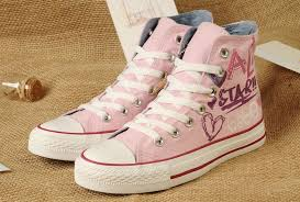 converse shoes high tops for girls. sale bb7ye 7q6fz4 2016 pink lady gaga converse graffiti printed all star high tops women girls shoes for