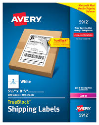 avery sheet labels avery r shipping address labels laser printers 500 labels half sheet labels permanent adhesive trueblock r 5912