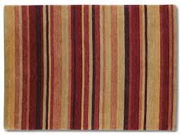 beige red stripe rug 90cm x 150cm