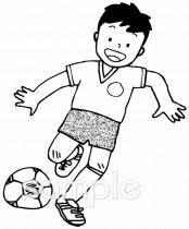 サッカーイラストなら小学校中学校幼稚園向け保育園向けの