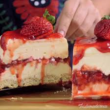 chocolate strawberry cheesecake. Wonderful Cheesecake White Chocolate Strawberry Cheesecake Recipe Inside