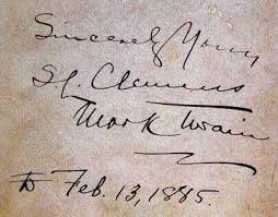 「1885 Mark Twain,」の画像検索結果