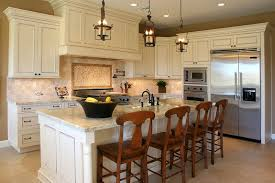 country kitchen ideas white cabinets. Backsplash For White Kitchen Cabinets Island And Chromed Hanging Lamp French Country Ideas W