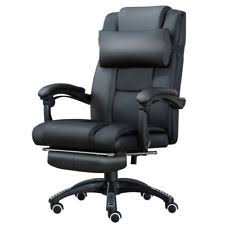 office recliner chairs. Home Office Executive Computer Chair Footrest Recliner Racing Lift Faux Leather Chairs