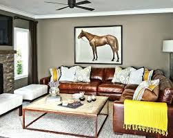 Decorating With Leather Furniture Tan Leather Couch Dining Chairs