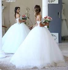2017 lace ball gown wedding dresses big puffy pearls beading