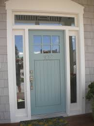 front door with windowWythe Blue exterior front door color Clean and bright
