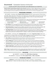 It Resume Entry Level Sample Computer Science Resume Entry Level Spacesheep Co