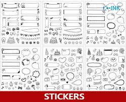 Us 12 6 10 Off 15 Sets Lot Black White Birthday Party Chat Frame Stickers Diy Decorative Border Paper Stickers For Scrapbooking In