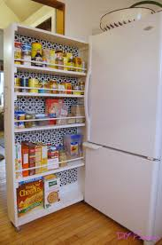 Space Saving Shelves Diy Rolling Pantry Tutorial Diy Home Improvement Pinterest