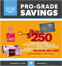 flyer and weekly ads co op canada home from thursday september tsc gift card
