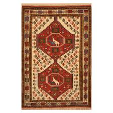 persian hand knotted tribal kurdish wool rug