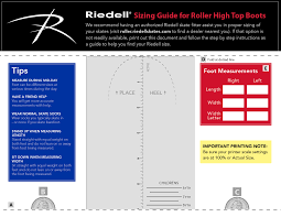 Epic Skates Size Chart Sizing Help Riedell Roller Skates