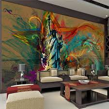 custom liberty murals wall art painting decoration vinyl sticker minimalist hanging accents decal modern statue