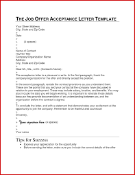 Job Acceptance Letters How To Write A Job Acceptance Letter Job Fer Acceptance Letters Tips