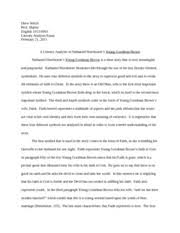 young goodman brown documents course hero young goodman brown essay
