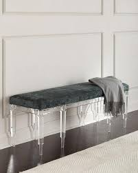bench with lucite legs. Interesting Lucite Battista Teal Square Acrylic Legs Bench To With Lucite T