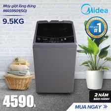 Máy giặt lồng đứng 9.5kg - (Thiết kế cao cấp - Sấy gió - Điều khiển tự  động) Màu Trắng/ Xám Bạc Tự Chọn - Hàng Phân Phối Chính Hãng Bảo Hành 2 Năm  giá rẻ 4.690.000₫