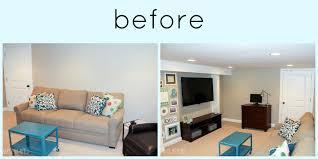 paint colors for basementA BIG Basement Living Room Makeover