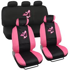 com lady high heel shoe seat covers for car w triple pink
