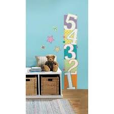 Kids Growth Chart Stick Details About Roommates Patterned Numbers Childrens Kids Growth Chart Peel Stick Wall Decal