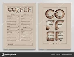 Cafe Menu Template Cafe Menu Mockup Coffee Shop Menu Template Coffee Cart
