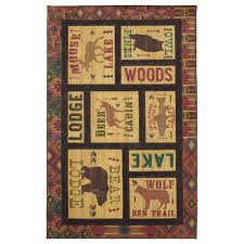 mohawk home prismatic on cabin time area rug 8 x