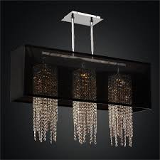 rectangular shade chandelier crystal strand chandelier omni 627a by glow lighting