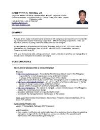 Seafarer Resume Sample Standard Resume Seafarers best resume objectives examples high 25