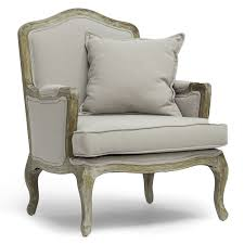 baxton studio constanza classic antiqued french accent chair wood arm