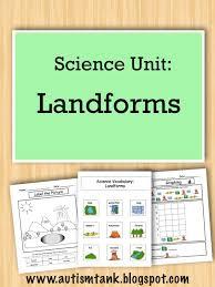 Autism Tank: Product Preview: Landforms Science Unit