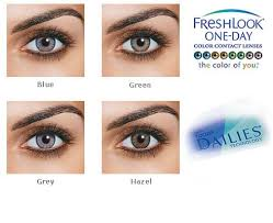 Contact Lenses Colour Chart Freshlook One Day 10 Coloured Contact Lenses