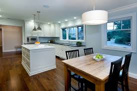 san francisco pendant lighting over with transitional microwave ovens kitchen contemporary and island wood molding