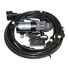 amazon 6m 20feet length misting system with 12v 60w 5l min water self priming pressure micro diaphragm booster washdown pump for